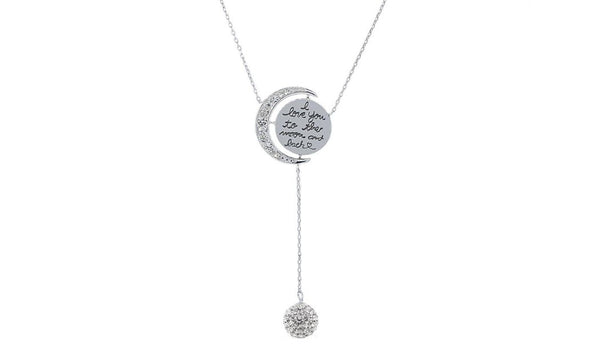 Engraved To The Moon And Back Y Necklace - Golden NYC Jewelry www.goldennycjewelry.com fashion jewelry for women