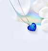 Classic Bermuda blue Heart Necklace