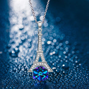 Eiffel Tower Pave Necklace