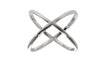 X Cross Ring in 18K White Gold Plated