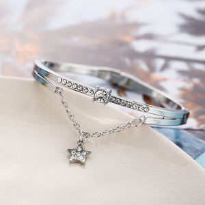 Star Drop With Austrian Crystals 18K White Gold Plated Bracelet