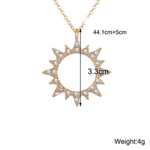 3 Piece Celestial Pave Necklace With Swarovski® Crystals 18K Gold Plated Necklace