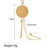 Fringe Tassell Drop 18K Gold Plated Necklace in 18K Gold Plated