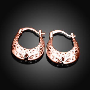 Filigree Leverback French Lock Earringin 18K Rose Gold Plated, Earring, Golden NYC Jewelry, Golden NYC Jewelry  jewelryjewelry deals, swarovski crystal jewelry, groupon jewelry,, jewelry for mom,