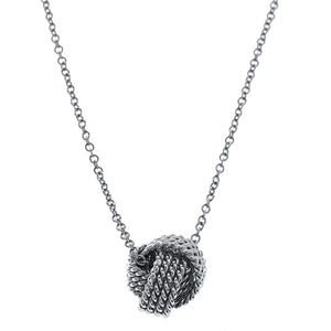 Mesh knotted Ball Drop  Necklace