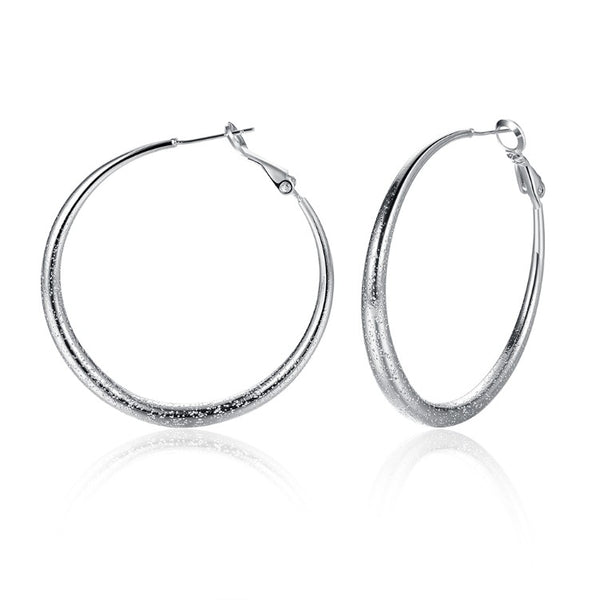Modern Glitter Layering Hoop Earrings Set in 18K White Gold, Earring, Golden NYC Jewelry, Golden NYC Jewelry fashion jewelry, cheap jewelry, jewelry for mom,