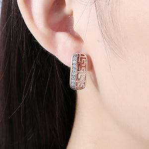 Laser Cut Swarovski Crystal Micro-Pav'e Lined Huggie Hoop Earrings Set in 18K Gold, Earring, Golden NYC Jewelry, Golden NYC Jewelry  jewelryjewelry deals, swarovski crystal jewelry, groupon jewelry,, jewelry for mom,
