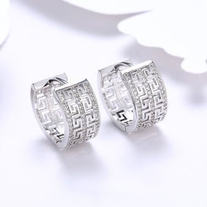 Thick Swarovski Crystal Micro-Pav'e Huggie Hoop Earrings Set in 18K Gold - Golden NYC Jewelry www.goldennycjewelry.com fashion jewelry for women