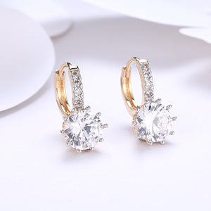 Simulated Diamond Star Shaped Princess Cut Leverback Earrings Set in 18K Gold, Earring, Golden NYC Jewelry, Golden NYC Jewelry  jewelryjewelry deals, swarovski crystal jewelry, groupon jewelry,, jewelry for mom,