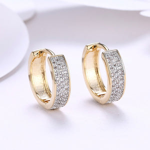 Swarovski Crystal Micro Pav'e Classic Huggies Set in 18K Gold, Earring, Golden NYC Jewelry, Golden NYC Jewelry  jewelryjewelry deals, swarovski crystal jewelry, groupon jewelry,, jewelry for mom,