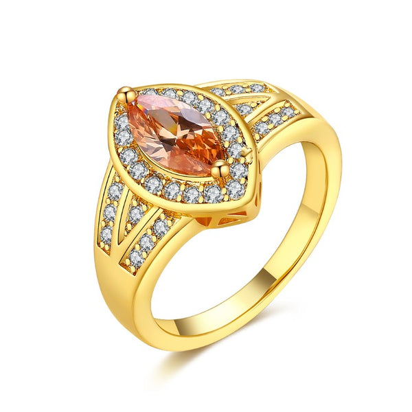 Citrine Diamond Cut Micro-Pav'e Gold Ring, , Golden NYC Jewelry, Golden NYC Jewelry fashion jewelry, cheap jewelry, jewelry for mom,