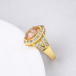 Citrine Diamond Cut Micro-Pav'e Gold Ring, , Golden NYC Jewelry, Golden NYC Jewelry  jewelryjewelry deals, swarovski crystal jewelry, groupon jewelry,, jewelry for mom,