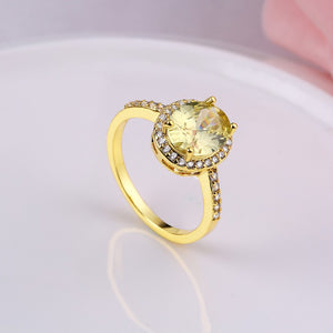 2.80 CTTW Yellow Citrine Princess Cut Pav'e Halo Cut Gold Ring, , Golden NYC Jewelry, Golden NYC Jewelry  jewelryjewelry deals, swarovski crystal jewelry, groupon jewelry,, jewelry for mom,