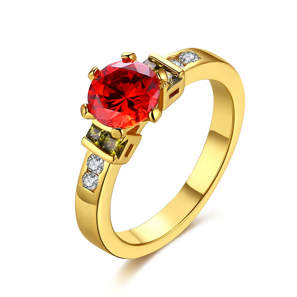 Princess Cut Ruby Multi-Gem Ring in Gold, , Golden NYC Jewelry, Golden NYC Jewelry fashion jewelry, cheap jewelry, jewelry for mom,