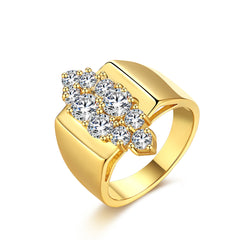 Multi Micro-Pav'e Marquis Cut Gold Swarovski Elements Ring, , Golden NYC Jewelry, Golden NYC Jewelry fashion jewelry, cheap jewelry, jewelry for mom,