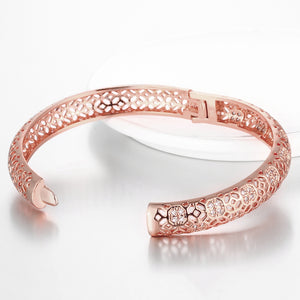 18K Rose Gold Plated Filigree Cut Bangle, Bracelet, Golden NYC Jewelry, Golden NYC Jewelry  jewelryjewelry deals, swarovski crystal jewelry, groupon jewelry,, jewelry for mom,
