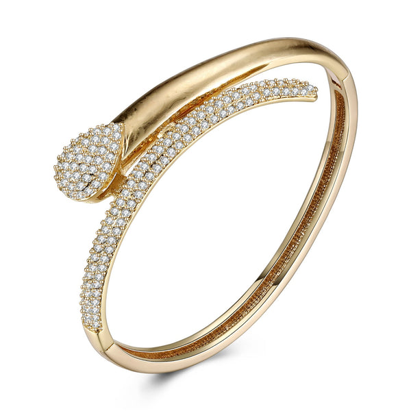 Swarovski Crystal Pave Teardrop Bangle - Golden NYC Jewelry www.goldennycjewelry.com fashion jewelry for women