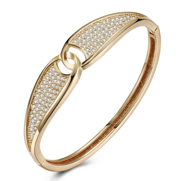Swarovski Crystal Pave Connecting Worlds Bangle - Golden NYC Jewelry www.goldennycjewelry.com fashion jewelry for women
