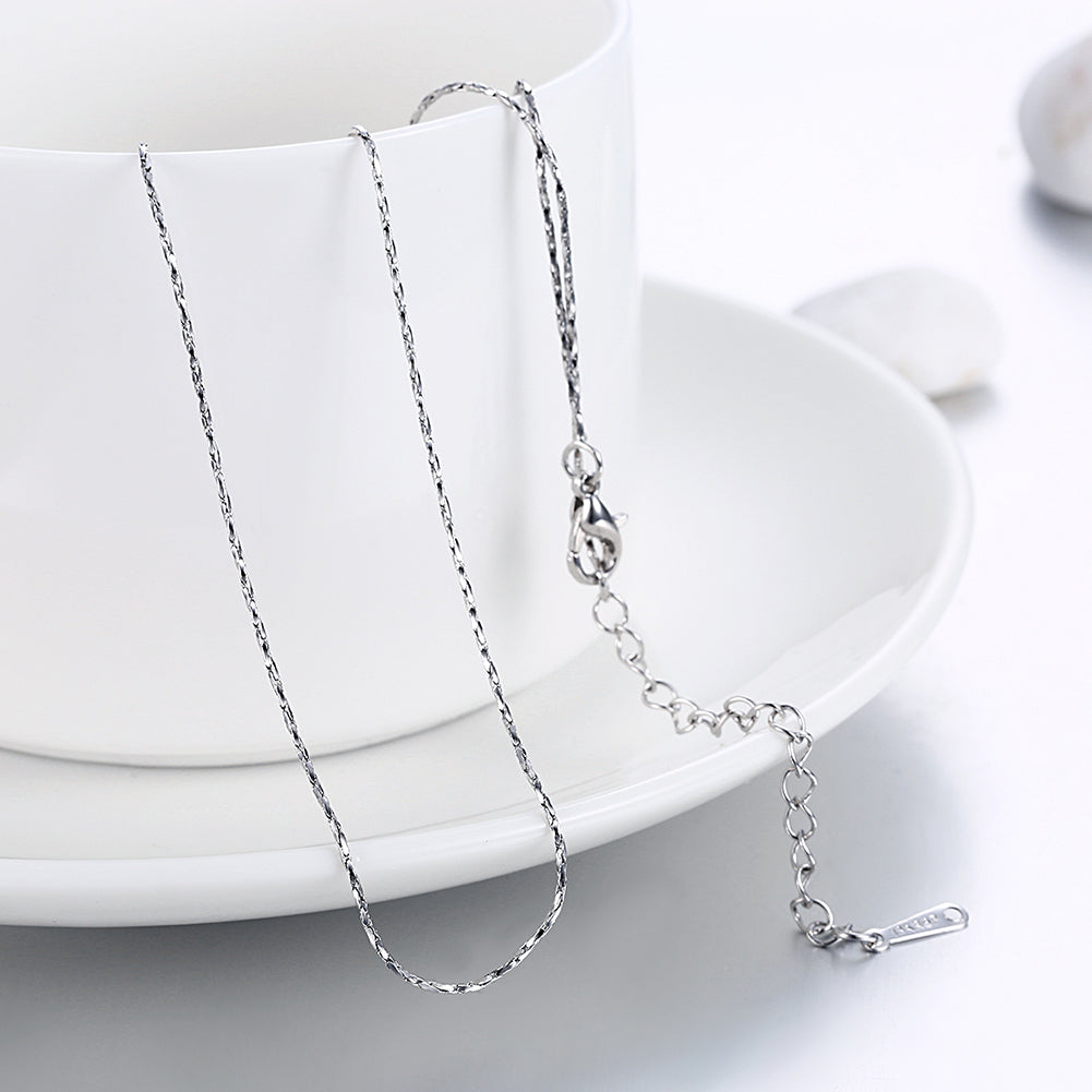 18K White Gold Plated  Mini Singapore Chain Necklace, , Golden NYC Jewelry, Golden NYC Jewelry  jewelryjewelry deals, swarovski crystal jewelry, groupon jewelry,, jewelry for mom,