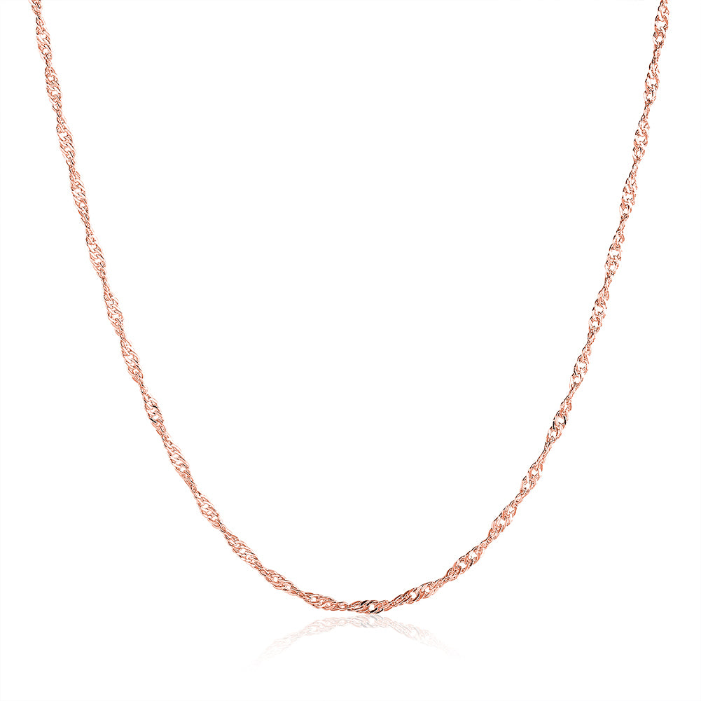 18K Rose Gold Plated Twisted Chain Necklace, , Golden NYC Jewelry, Golden NYC Jewelry  jewelryjewelry deals, swarovski crystal jewelry, groupon jewelry,, jewelry for mom,