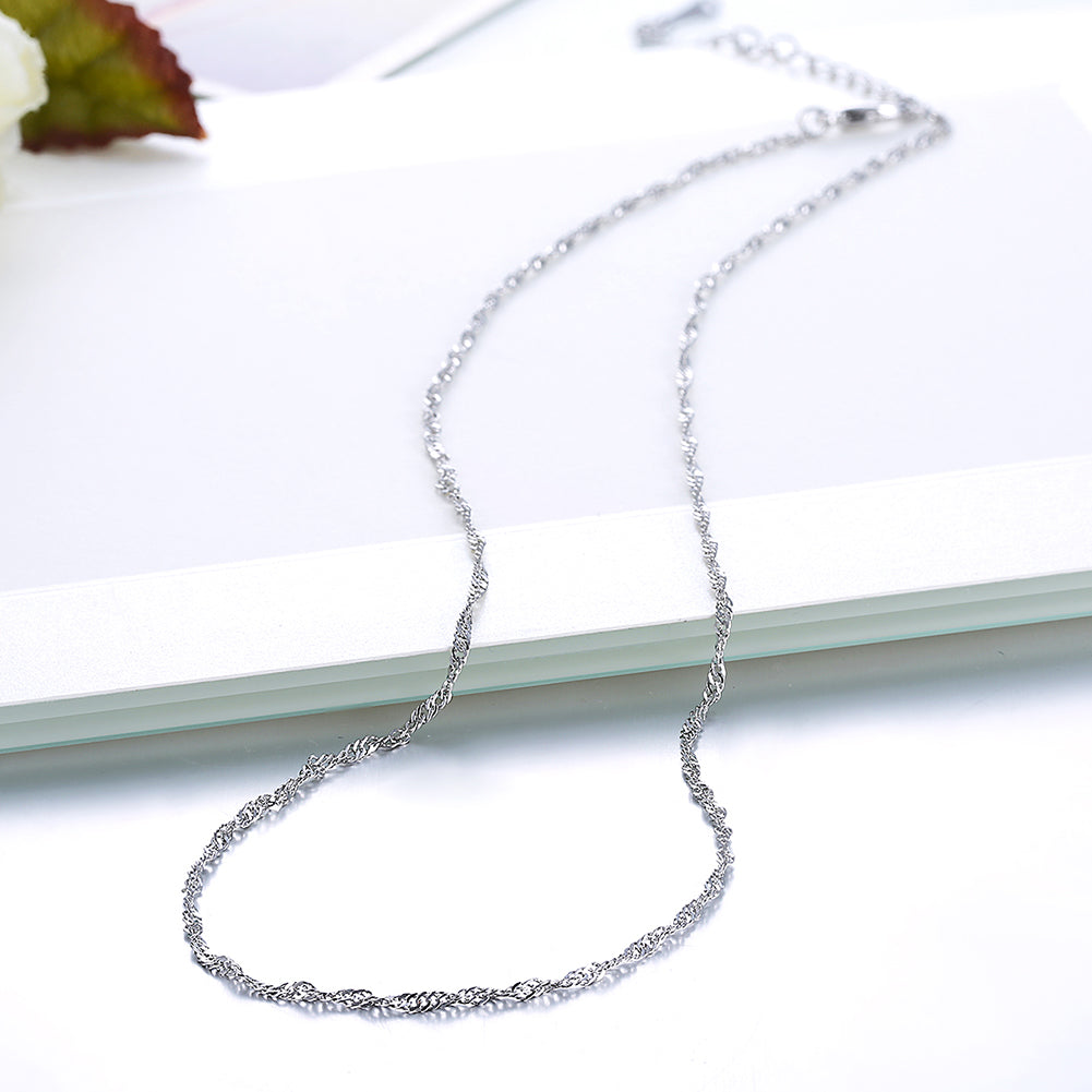 18K White Gold Plated Twisted Roc Chain Necklace, , Golden NYC Jewelry, Golden NYC Jewelry  jewelryjewelry deals, swarovski crystal jewelry, groupon jewelry,, jewelry for mom,