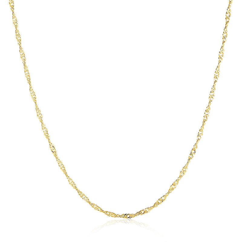 18K Gold Plated Twisted Singapore Chain Necklace, , Golden NYC Jewelry, Golden NYC Jewelry  jewelryjewelry deals, swarovski crystal jewelry, groupon jewelry,, jewelry for mom,