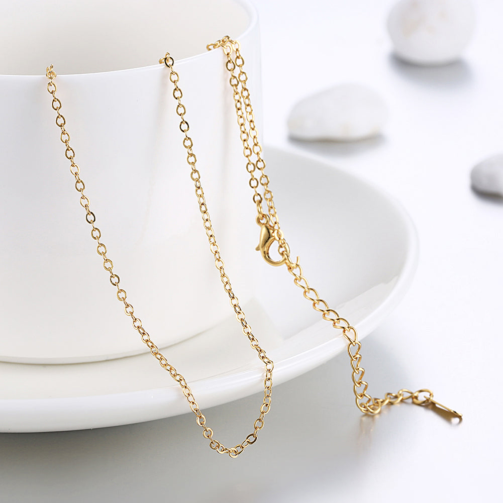 18K Gold Plated Classic London Chain Link Necklace, , Golden NYC Jewelry, Golden NYC Jewelry  jewelryjewelry deals, swarovski crystal jewelry, groupon jewelry,, jewelry for mom,