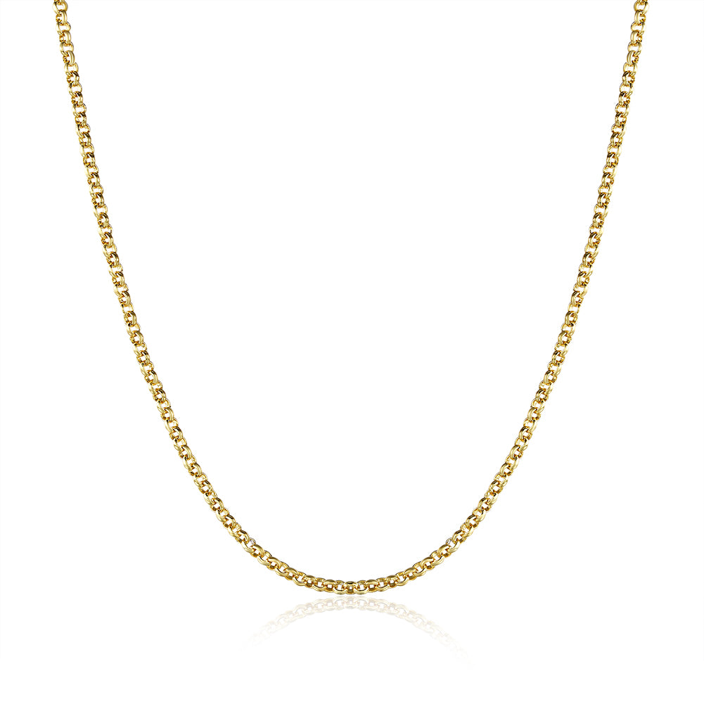 18K Gold Plated Classic New York Chain Link Necklace, , Golden NYC Jewelry, Golden NYC Jewelry  jewelryjewelry deals, swarovski crystal jewelry, groupon jewelry,, jewelry for mom,