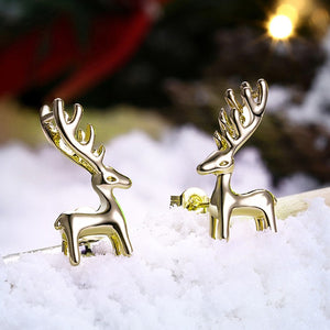 Santa's Reindeers Stud Earrings