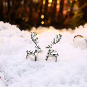 18K Gold Plated Classic Reindeer Design Stud Earrings - Three Options Available, , Golden NYC Jewelry, Golden NYC Jewelry  jewelryjewelry deals, swarovski crystal jewelry, groupon jewelry,, jewelry for mom,