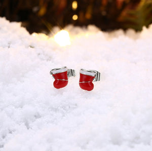 Christmas Red Stocking Stud Earrings, Earring, Golden NYC Jewelry, Golden NYC Jewelry  jewelryjewelry deals, swarovski crystal jewelry, groupon jewelry,, jewelry for mom,