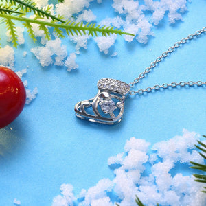 Austrian Crystal Christmas Stocking Necklace