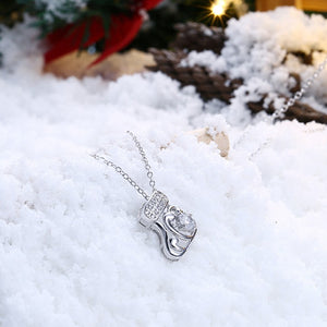 Swarovski Crystal Christmas Stocking Necklace