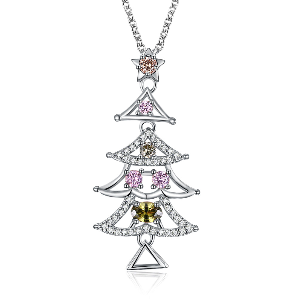 Tiered Christmas Tree with Austrian Crystal