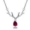 Reindeer Christmas Inspired Necklace in 18K White Gold Plated