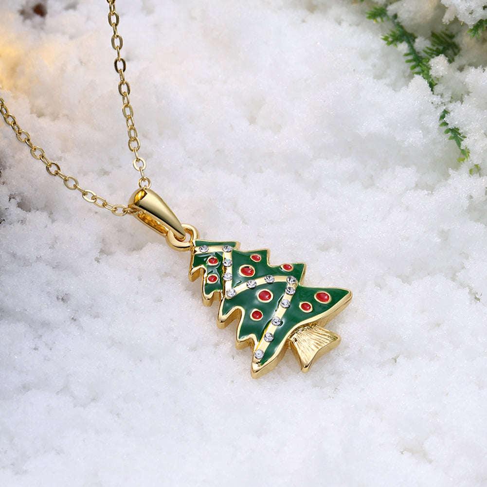 18K Gold Plated Christmas Tree Swarovski Necklace - Three Options Available, , Golden NYC Jewelry, Golden NYC Jewelry  jewelryjewelry deals, swarovski crystal jewelry, groupon jewelry,, jewelry for mom,