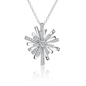 Swarovski Crystal Snowflake Necklace - Golden NYC Jewelry www.goldennycjewelry.com fashion jewelry for women