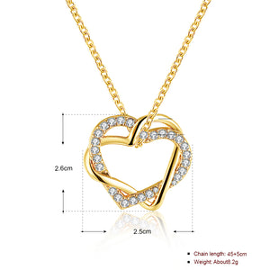 My Golden Heart Necklace in 18K Gold Plated