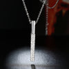 Vertical Drop Swarovski Elements Necklace in 18K White Gold