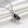 Mystic Topaz Pear Cut Necklace Gemstone