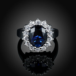Sapphire Blossoming Pav'e Ring in 18K White Gold