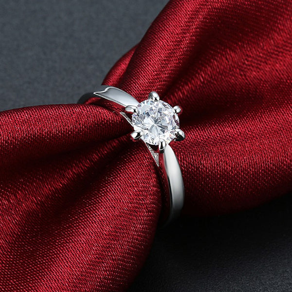 2.50 ct Round Diamond Princess Engagement Ring - Golden NYC Jewelry www.goldennycjewelry.com fashion jewelry for women