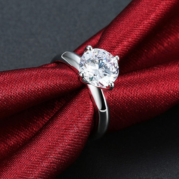 1.75 ct Round Swarovski Crystal Princess Engagement Ring - Golden NYC Jewelry www.goldennycjewelry.com fashion jewelry for women