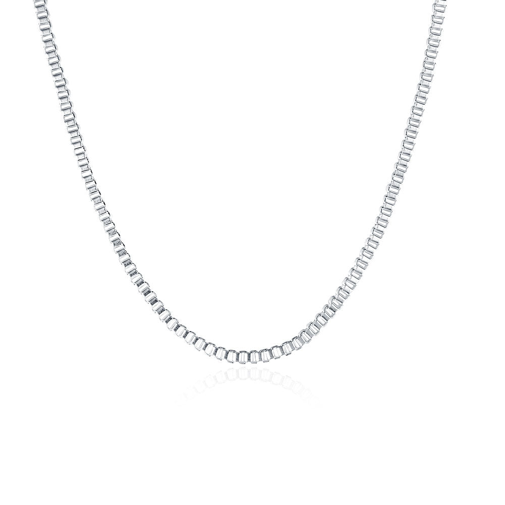 18K White Gold Plated  Italian Figaro Chain Necklace, , Golden NYC Jewelry, Golden NYC Jewelry  jewelryjewelry deals, swarovski crystal jewelry, groupon jewelry,, jewelry for mom,
