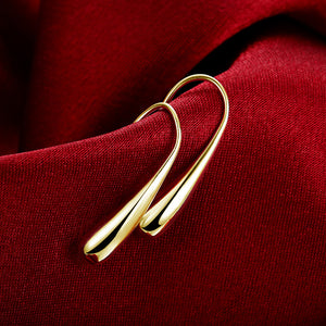 Fish Hook Hoop Earrings in Gold, Rose Gold, White Gold, , Golden NYC Jewelry, Golden NYC Jewelry  jewelryjewelry deals, swarovski crystal jewelry, groupon jewelry,, jewelry for mom,