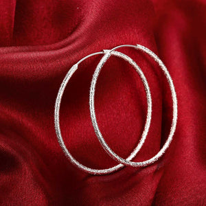 50mm Sparkle Hoop Earring in 18K White Gold Plated, Earring, Golden NYC Jewelry, Golden NYC Jewelry  jewelryjewelry deals, swarovski crystal jewelry, groupon jewelry,, jewelry for mom,