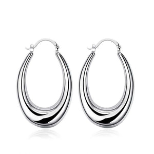 47mm Thick Cut Hoop Earring in 18K White Gold Plated, Earring, Golden NYC Jewelry, Golden NYC Jewelry  jewelryjewelry deals, swarovski crystal jewelry, groupon jewelry,, jewelry for mom,