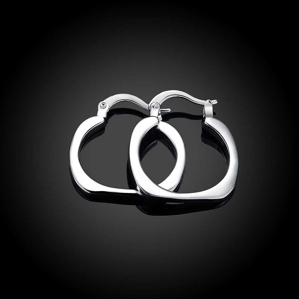 Mini Small Hoop Earring in 18K White Gold Plated