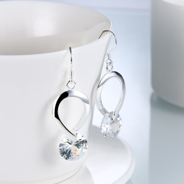 Twisted Swarovski Crystal Hook Earrings - Golden NYC Jewelry www.goldennycjewelry.com fashion jewelry for women