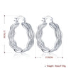 Triple Layer Stud Earring in 18K White Gold Plated